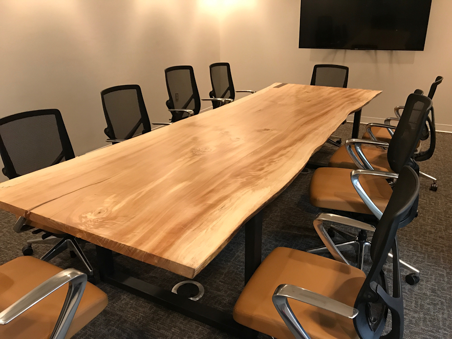 Buy A Handmade Feet Live Edge Conference Table Made To Order - 12 foot conference room table