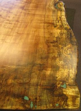 Handmade Single Slab Burl Maple Dining Table By Haymore