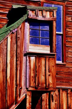 Custom Made Fine Art Photograph Of A Window In Bodie