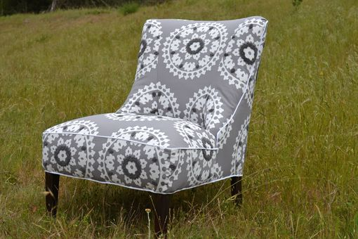 Custom Made Custom Reupholstered Chair In Kea Stone