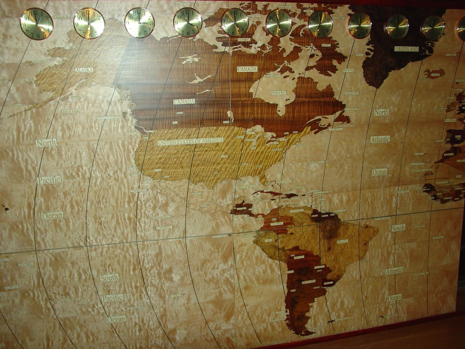 Custom made the worlds largest wooden map by the wooden map company custom made the worlds largest wooden map gumiabroncs Gallery