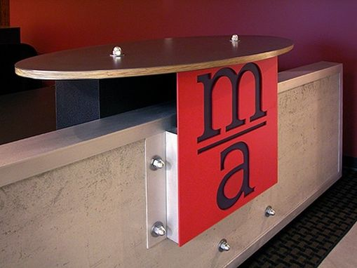 Custom Made Reception Desk • Mazzetti & Associates;  Minneapolis, Mn, Usa