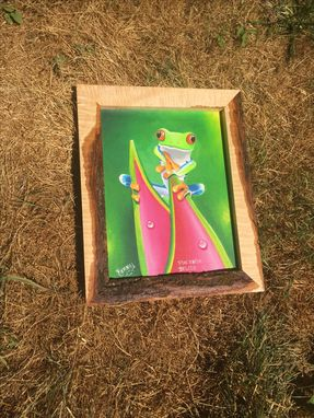 Custom Made Custom Live Edge Figured Maple Art Frames