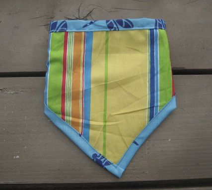 Custom Made Blue Dragonfly Bibdana, Reversible Cotton Bandana Bib For Baby