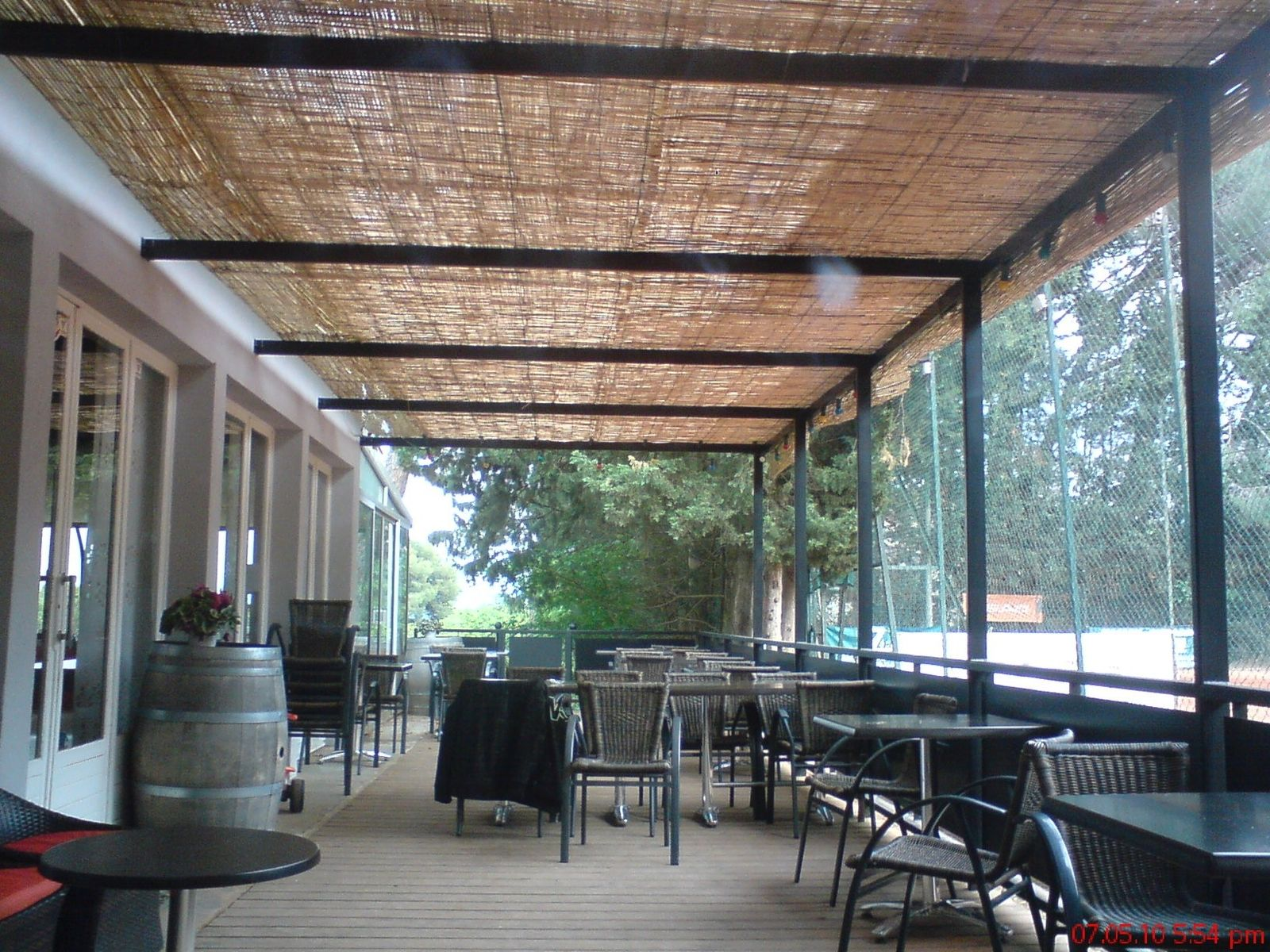 Handmade set club new pergola and wood deck by steel monkey dream shop llc - Pergola en kit aluminium ...
