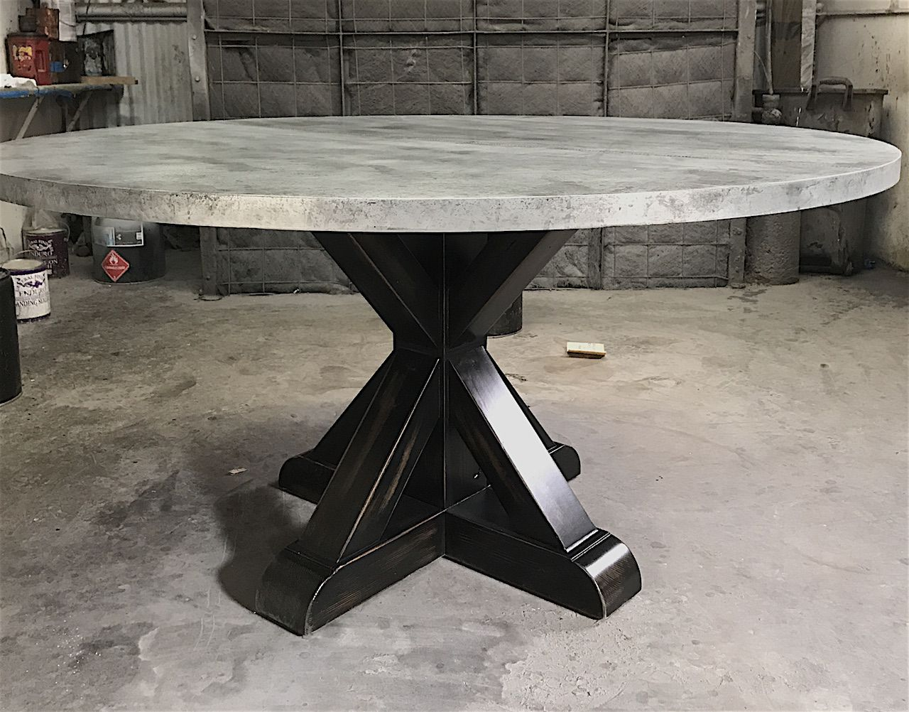 Custom made henrik zinc round dining