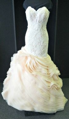 Custom Made Float Blush Wedding Dress