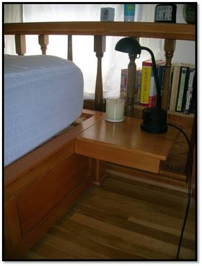 Custom Made Douglas Fir Bed For Houseboat