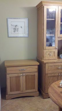 Custom Made Hutch End Cabinet