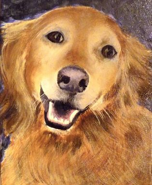 Custom Made Chloe, The Smiling Golden Retriever Pet Portrait!
