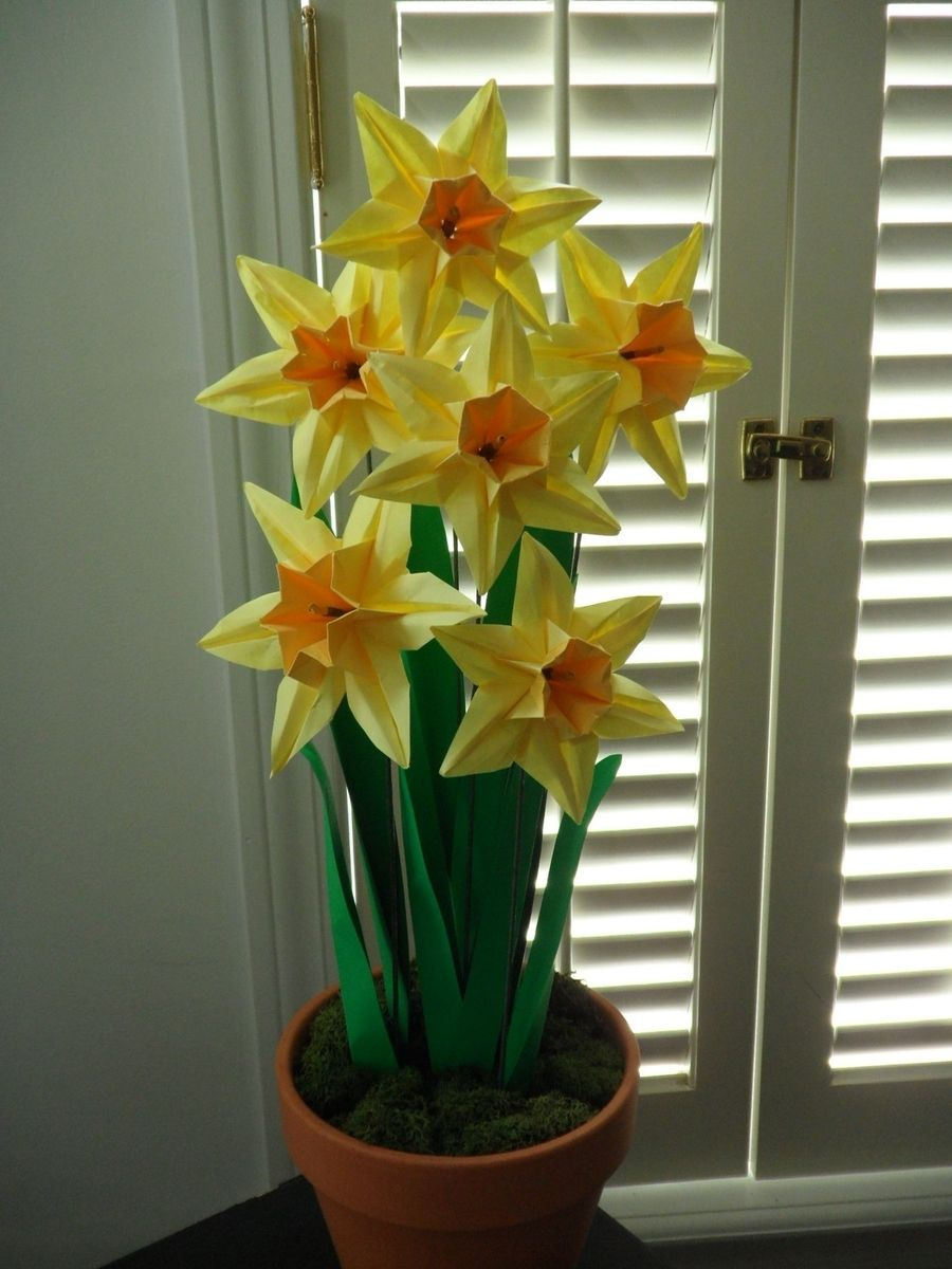 Hand Made Origami Paper Daffodils By Dear Betsy