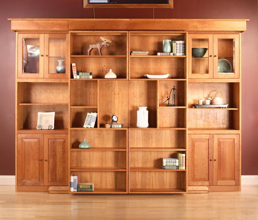 Custom Library Wall Bed by Hardwood Artisans | CustomMade.com