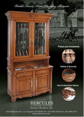 Custom Made Hercules Arms Display Cabinet