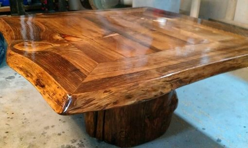 Custom Made 4 Sided Live Edge Coffee Table