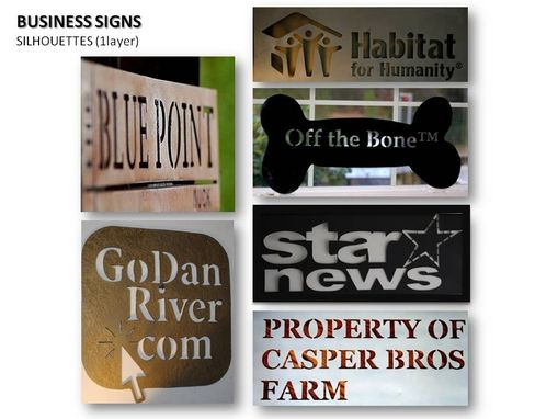 Custom Made Signs - Business / Residential  Signs In Metal  - Silhouette Style