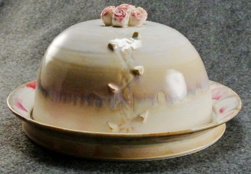 Custom Made Roses And Thorns Covered Serving Plate Or Butter Dish