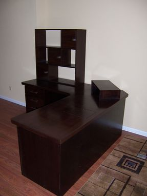 Custom Made Walnut Desk And Hutch
