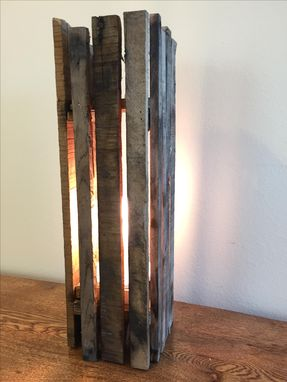 Custom Made Handcrafted Pallet Light Fixture
