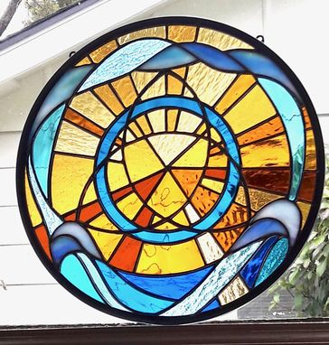 Custom Made Bright Day - Stained Glass Panel