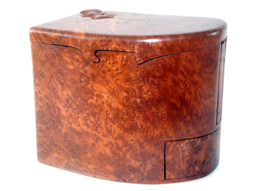 Custom Made Redwood Lace Burl Jewelry Box