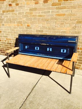 Custom Made Ford Tailgate Bench With Welded Steel Frame