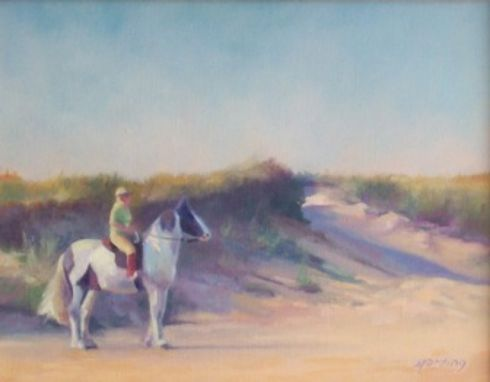 Custom Made Oil Painting Of Horse & Rider