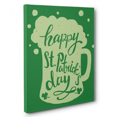 Custom Made St. Patrick'S Day Beer Mug Canvas Wall Art