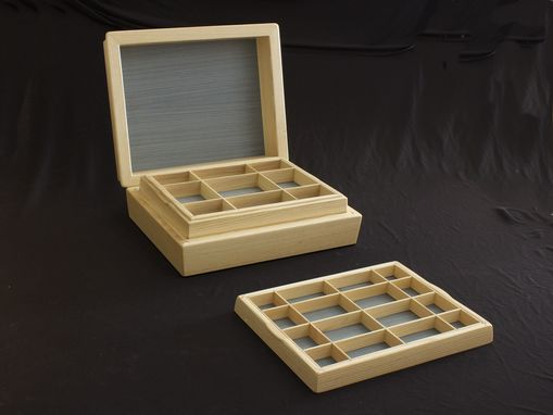 Custom Made Jewelry Box In Ash, Dyed Koto, Ebony