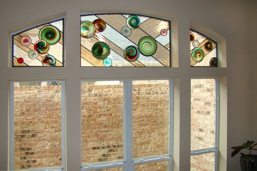 Custom Made Rondel Leaded Glass Windows
