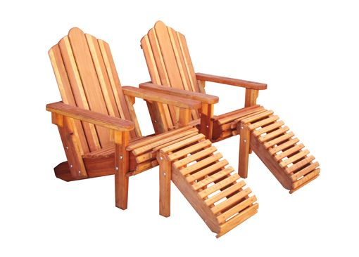 Custom Made Redwood Adirondack Chair