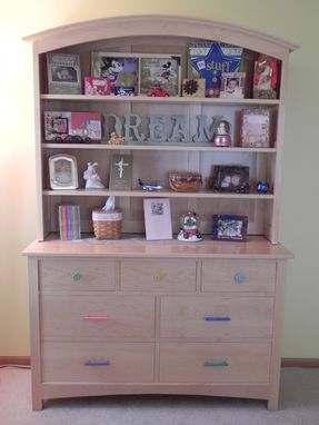 Custom Made Dresser With Hutch