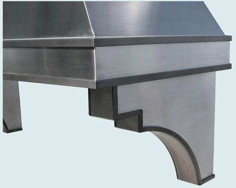 Custom Made Stainless Range Hood With Corbels & Steel Straps