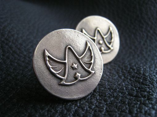 Custom Made Golden Bronze Cuff Links Cufflinks With Custom Designed Logo