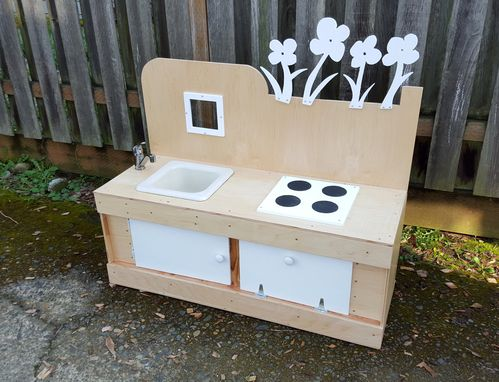 Custom Made Kids Indoor/Outdoor Play Kitchen