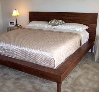 Custom Made Custom Platform Bed In Solid Walnut
