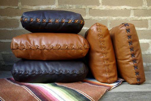 Custom Made Hand-Laced Leather Pillows