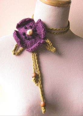 Custom Made The Spring Pansy Lariat In Violet