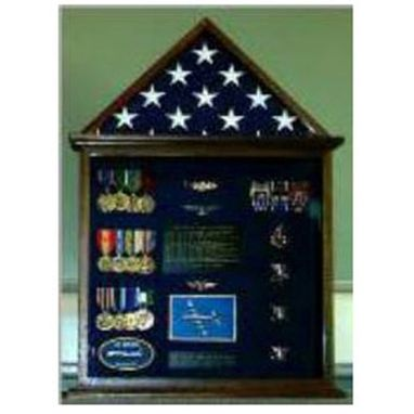 Custom Made Flag Case, Flag And Badge Display Cases