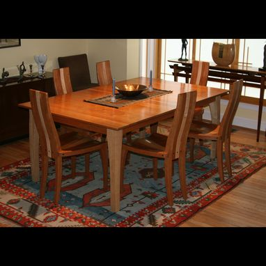Custom Made Expanding Dining Table With Self Storing Leaves In Walnut Wood