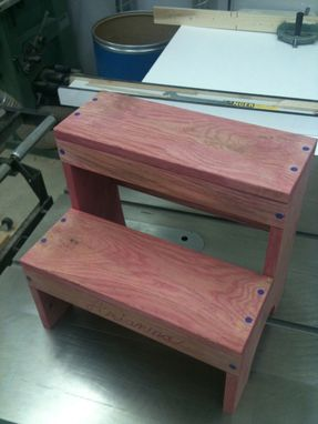 Custom Made Whimsical Child's Step Stool