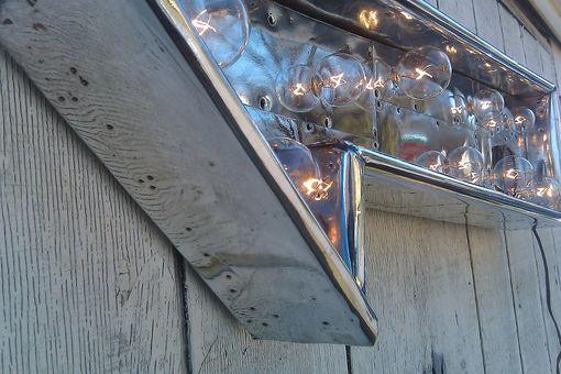 "Custom Made Aircraft Electric Light Fixture Silver Arrow Wwii P 51 Mustang Inspired ""The Smithsonian"""