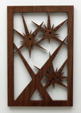 "Custom Made Black Walnut Fretwork ""Three Starbursts In Space"""
