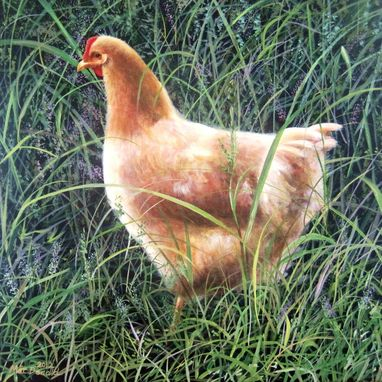 Custom Made Custom Acrylic Painting Of Chicken