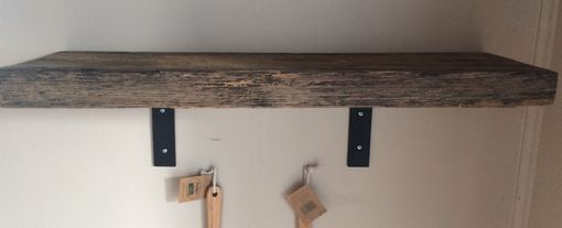 Reclaimed Wood And Metal Wall Shelves: Buy Handmade Barn Wood Shelf Reclaimed Barn Wood With