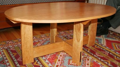 Custom Made Double Ellipse Coffee Table