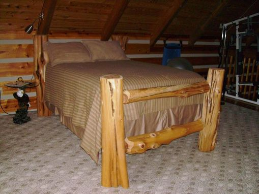 Custom Made Cedar Log Bed