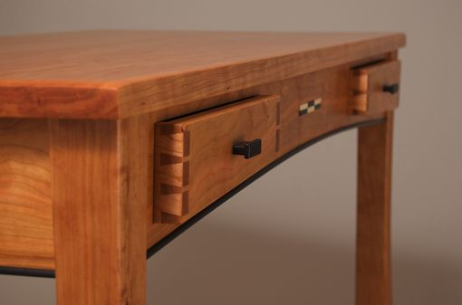 Custom Made Cherry Writing Desk With Drawers
