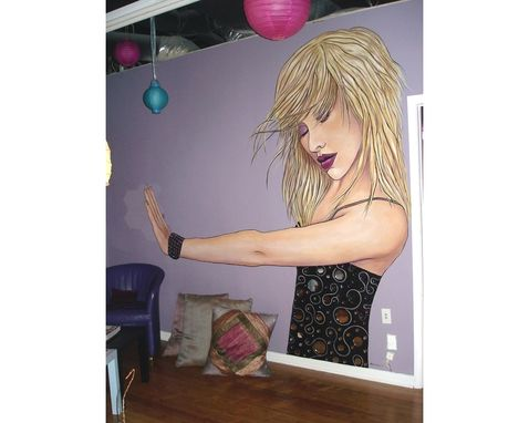 Custom Made Christina Aguilera Mural In Dance Studio By Visionary Mural Co.