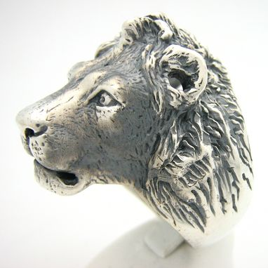Custom Made Sterling Silver Gallant Lion Ring