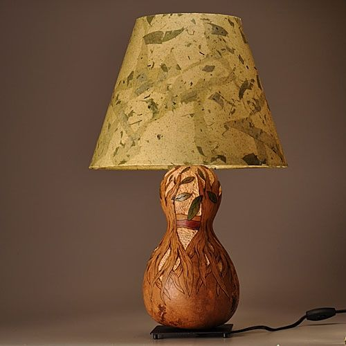 Hand Made Gourd Lamp Tree With Roots Design By Gourgeous
